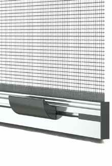 Maniglia a vaschetta per zanzariere verticali